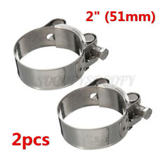 2Pcs 2'' Stainless Steel Band Exhaust Pipe Clamp Calipers Universal Motorcycle