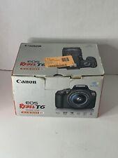 Canon EOS Rebel T6 18.0 MP Digital SLR - Black No Lenses Or Micro USB Cord.
