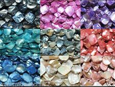 "A string of 16"" shell square beads 17-18mm in various colours by 1st class"
