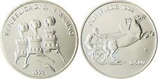 SAN  MARINO  SAINT  MARIN   500  LIRE  ARGENT  1992  CHARIOT   FLEUR  DE  COIN
