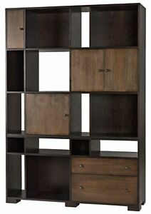 """86.5"""" T Armoire Cabinet Hand Crafted Walnut Plywood Veneer Contemporary Modern"""