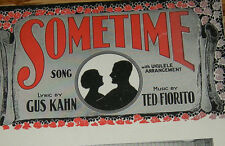 1925 Sometime Song - Vintage Sheet Music - Ted Fiorito Gus Kahn  OLD SHEET MUSIC