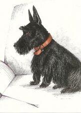 SCOTTISH TERRIER RYTA PRINT OF PAINTING DOG ART SCOTTIE 5x7 SKETCH PORTRAIT FOLK