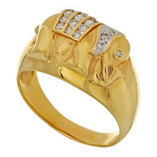 "Ring ""Elefant"" in Gelbgold 750/ 7,5 gr. 20 Brillanten zus.ca. 0,25 ct, Umfang 57"