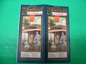 Pennsylvania Railroad Lines  Time Tables The Southland To And From Florida 1916