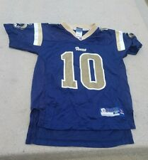 Los Angeles/St Louis Rams Jersey Marc Bulger #10 Reebok Blue youth medium