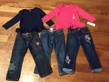 Gymboree, Gap, Children's Place Lot of Jeans And Shirts Size 3T