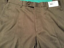 Hickey By Hickey Freeman Pants Size 34X30 R Brown Pleated Stunning NWT $299 Comf