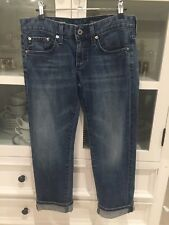 $340 AG Jeans Adriano Goldschmied Tomboy Boyfriend Relaxed Straight Crop 26 NEW
