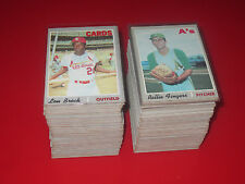 1970 Topps Baseball U Pick 10 complete your set EX+ lot STARS! HOF choose