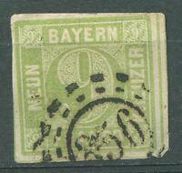 """GERMANY BAVARIA Yvert # 6 """"356"""" CANCEL VF"""
