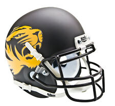 Missouri Tigers Matte Black Tigerhead Logo Schutt Football Authentic Mini Helmet