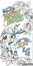 J Scott Campbell SIGNED FAIRY TALE FANTASIES BLACK & WHITE 2014 CALENDAR SDCC 13
