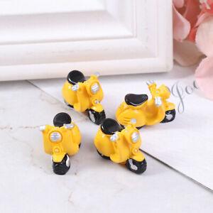 4 pezzi casa delle bambole in miniatura moto triciclo modello giocattolo ca DXi