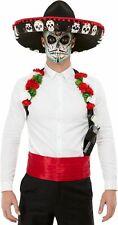Tag der Toten Set Halloween Instant Kostüm Outfit Sombrero & Holster