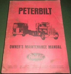 PETERBILT 359 362 310 TRUCK OWNERS MAINTENANCE REPAIR SHOP SERVICE MANUAL 1970S