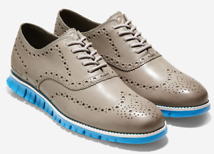 COLE HAAN Zerogrand Wingtip Oxford Men's Ironstone Electric Blue SIZE 10 C33183