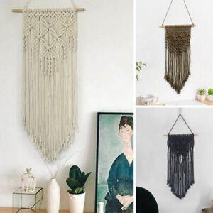 Boho Macrame Wall Hanging Tapestry Handmade Woven Cotton Dream Catcher Home Deco