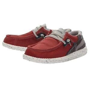 Hey Dude Wally Hawk Shoes Slip-On Casual Loafer - Lava Grey 112253219 - New 2021