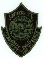 SOUTHERN UTE INDIAN TRIBE COLORADO CO POLICE SWAT SUBDUED NICE PATCH SHERIFF