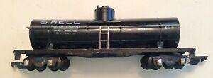 AMERICAN FLYER 625 S SCALE/GAUGE SHELL  8681 BLACK PLASTIC SINGLE DOME TANK CAR