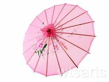 Small Chinese Silk Floral Parasol Geisha Umbrella