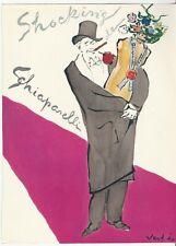 1946 Shocking de SCHIAPARELLI Torso bottle VERTES art Vintage PERFUME print Ad