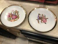 "Royal Vienna Fine China Dessert Plates Pattern 4098 Gold Rimmed 7 3/4"""