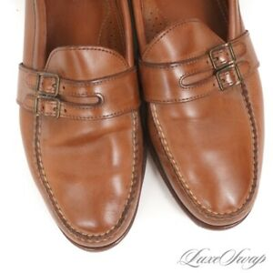 Ralph Lauren Collection Made in Maine USA Whiskey Double Strap Loafers Shoes 11