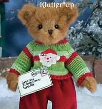 "Bearington Bear BEN A. BELIEVER 14"" Christmas Boy #173211  NEW FALL 2014"
