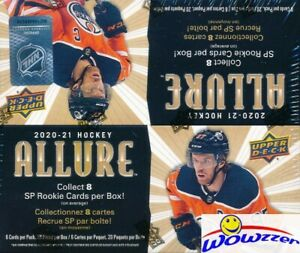2020/21 Upper Deck ALLURE Hockey MASSIVE 20ct Factory Sealed Retail Box-120 Card