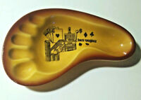 Souvenir Las Vegas Ashtray Vintage Gold Brown Catch All Shaped Like a Foot