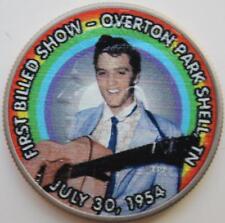 JFK KENNEDY HALF DOLLAR ELVIS PRESLEY - '54 FIRST BILLED SHOW COLORIZED COIN