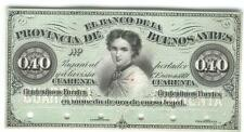 ARGENTINA FRONT PROOF  BUENOS AIRES 40 CENTESIMOS 1869 UNC  P.s 504 BAUMAN 143p