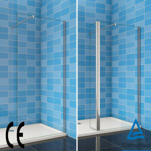 Walk In Wet Room Shower Enclosure 8mm NANO Glass Screen & Optional Flipper Panel