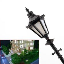 8 Pcs Model Railway LED Lamppost Lamps Antique Street Lights G Scale 1 25