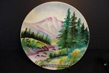 Vintage - Decorative Wall Plate - Landscape -  Moutains and Stream - 8 Inch -