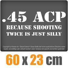 45 ACP chf0404 blanco 60 x 24 cm Heck discos pegatinas CHF