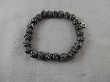 "BKE Pewter Knitting Yarn Ball Bracelet 7.5mm 7"" stretchy"