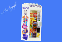 LEGO snack vending machine crisps chocolate food fridge train station shop