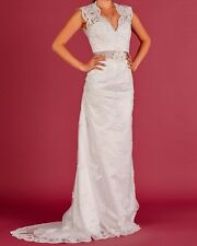 New White Lace Bridal Gown Wedding Dress Size 2- 6