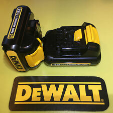DeWALT DCB120 12V MAX LITHIUM ION BATTERY PAIR  LOT OF 2 BATTERIES