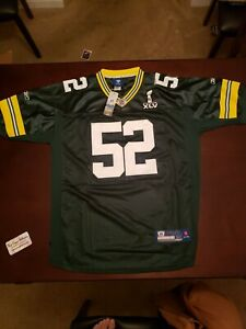 Reebok On Field  Packers #52 Clay Mathews Super Bowl  XLV Signed Jersey COA