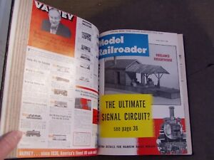Model Railroader Magazine Bound Volume 25, 1958