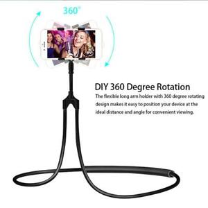 Universal Flexible Lazy Neck Hanging Bed Mobile Phone Holder Mount Stand New x1.