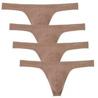 4er Pack Herren Tangas String Sexy Mesh Solid Unterwäsche Pouch Unterhose