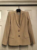 Giorgio Armani Le Collezioni Made In Italy Womens Size 10 Beige Color Coat Fresh