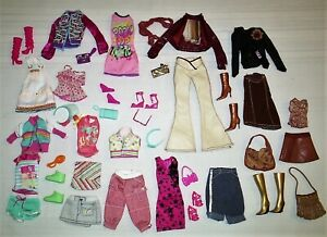 Large Group Lot Barbie Doll Clothes Matching Sets Matching Shoes, Purses + #1
