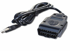KKL OBD2 USB Interface Cable FTDI FT232RL Chip for 3rd Party Software & Apps
