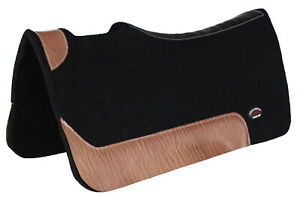 Horse Western Contoured Wool Felt Moisture Wick Therapeutic Saddle Pad 3976